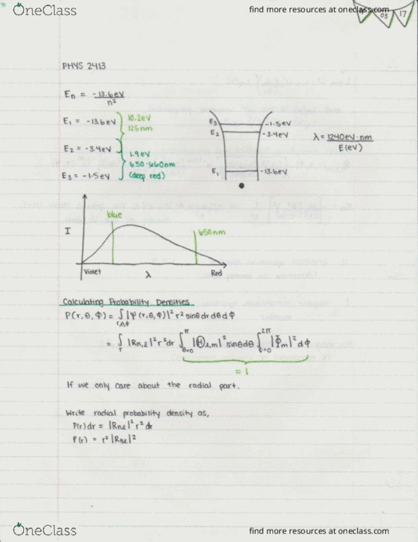 Class Notes for PHYS 2413 at Acadia University - OneClass