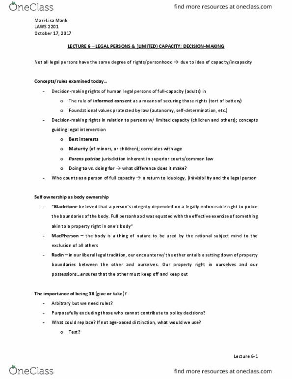 legal capacity law