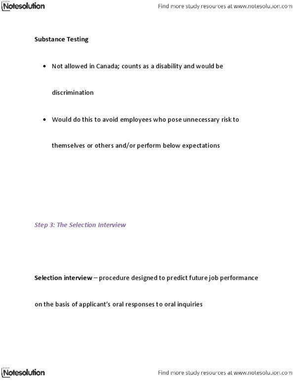 BUSM 1100 Study Guide - Winter 2013, Quiz - Job Performance