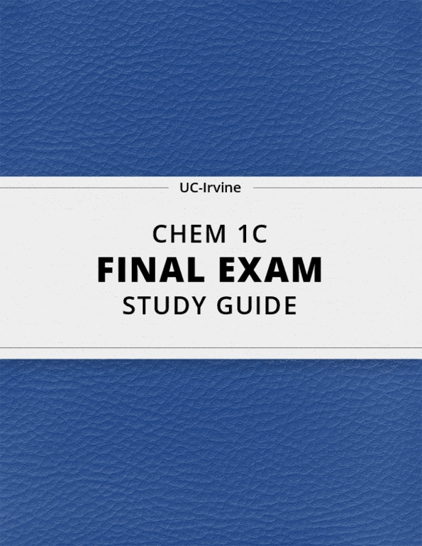 Study Guides for CHEM 1C at University of California ...