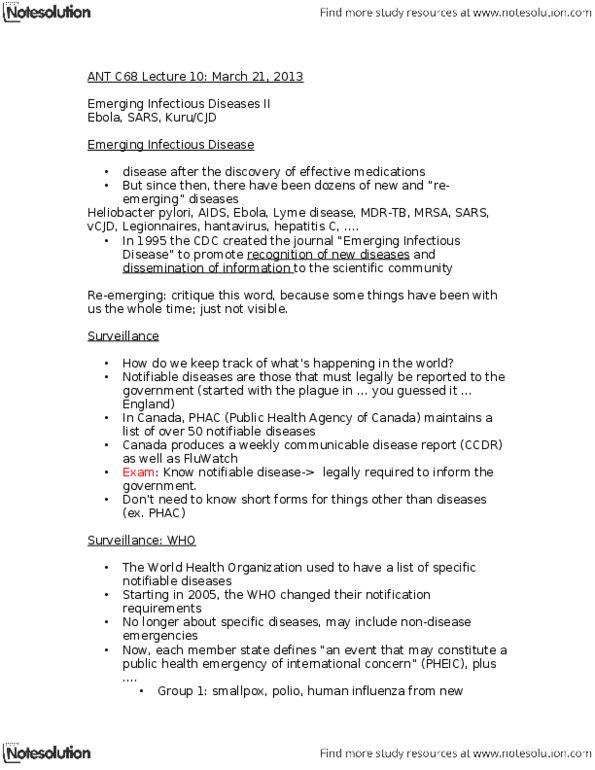 Class Notes for Bianca Dahl - OneClass