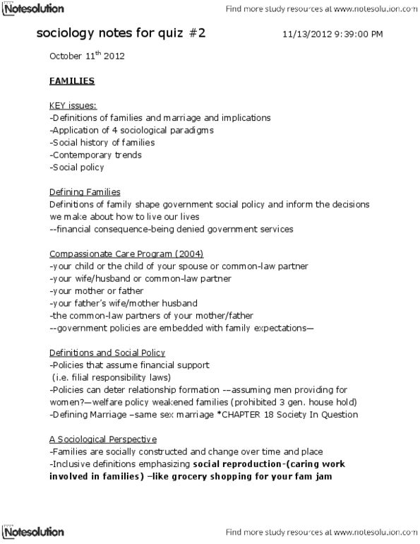 sociology notes for quiz 2 docx