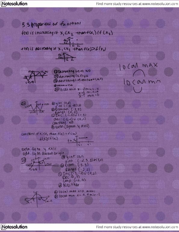 Class Notes for Mathematics – Calculus and Precalculus at