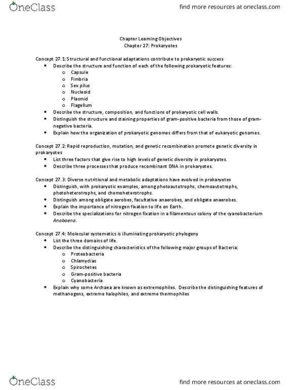 BIOL 1202 Lecture Notes - Lecture 20: Pilus, Genetic Recombination,  Gram-Negative Bacteria