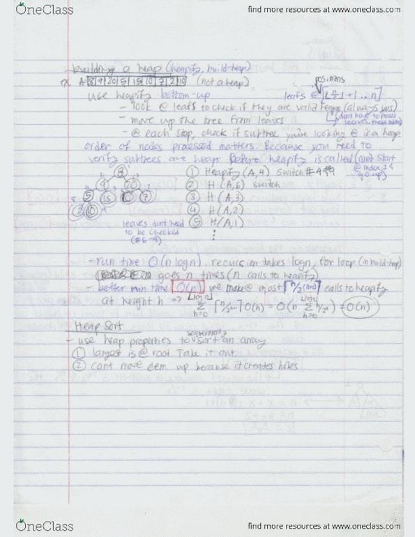 Class Notes for CSE 310 at Arizona State University (ASU
