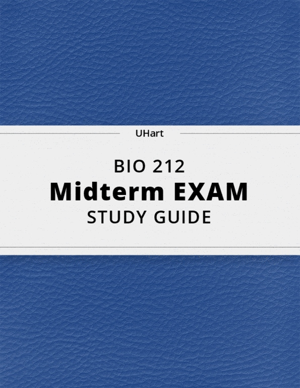BIO 212- Final Exam Guide - Comprehensive Notes for the exam ( 194 pages  long!)