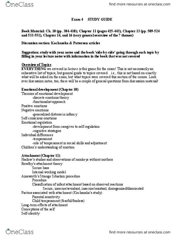 PSY 2401 Study Guide - Fall 2018, Final - Mental Model