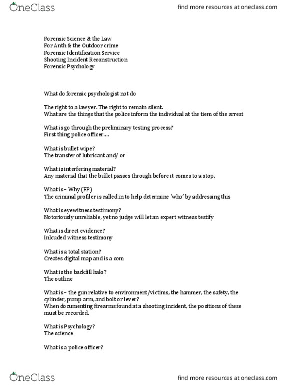 Study Guides For Fsc239y5 At University Of Toronto Mississauga Utm Page 2 Oneclass