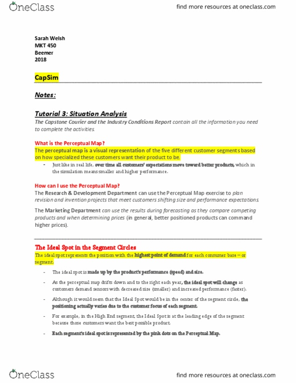 MKT-450 Lecture Notes - Spring 2018, Lecture 13 - Leading Edge