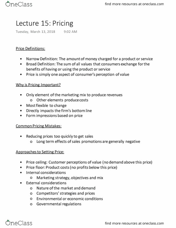 Comm 131 Lecture Notes Winter 2018 Lecture 15