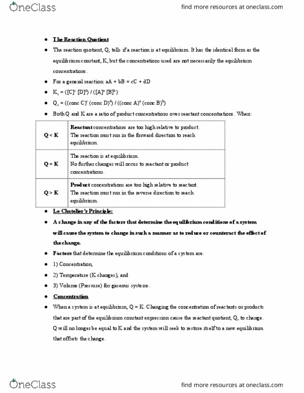 All Educational Materials for CHEM 134 at University of