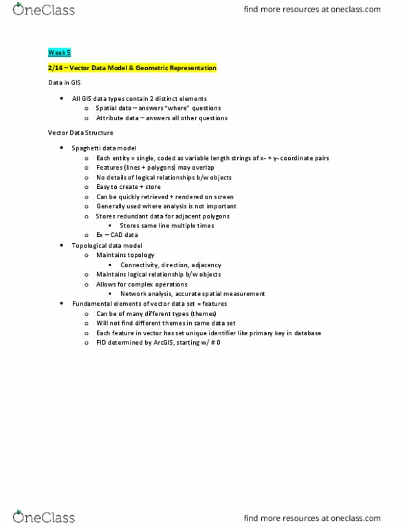 GEOG 379- Midterm Exam Guide - Comprehensive Notes for the exam ( 37 pages  long!)