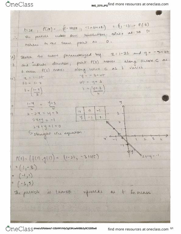 Class Notes for Archana Khurana - OneClass
