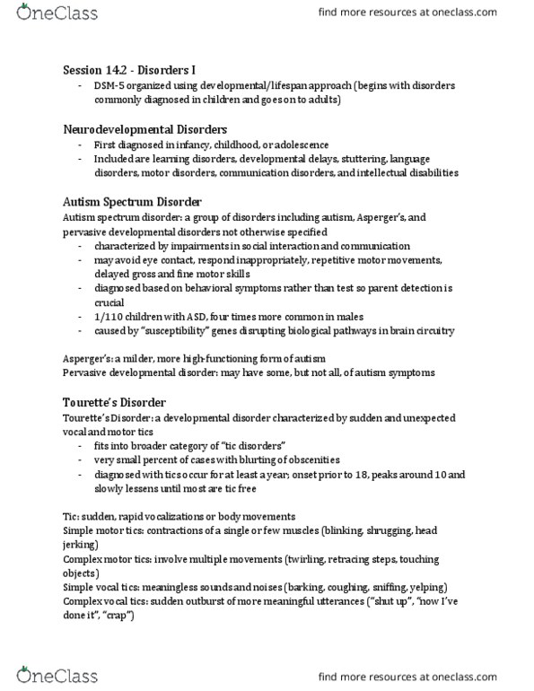 PSY 101 Lecture Notes - , Lecture 20 - Psychosis, Word Salad