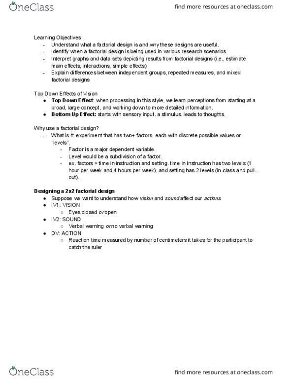 PSYC 217 Study Guide - Quiz Guide: Scatter Plot, Observational Error,  Sample Size Determination