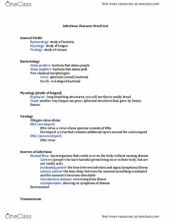 VPAT 3100H Study Guide - Spring 2018, Final - Hospital