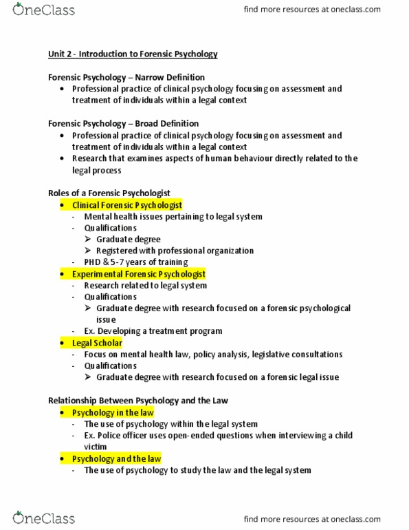 Psyc 3210u Lecture Notes Spring 2018 Lecture 1 Dentistry Extraversion And Introversion Canadian Psychological Association