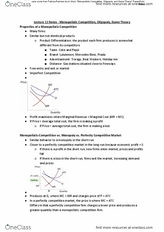 ECON1010 Lecture Notes - Fall 2018, Lecture 11 - Trivago