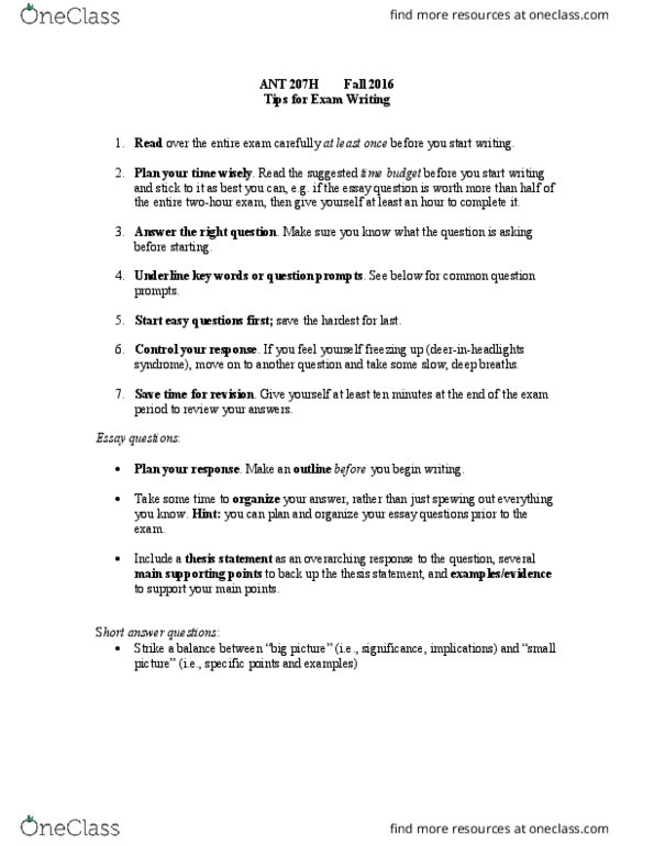 HIS109Y1 Study Guide - Fall 2015, Midterm - Thesis Statement