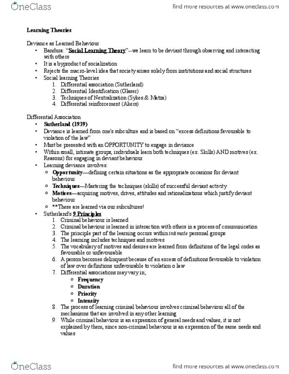 sociology 2259 lecture notes - fall 2013