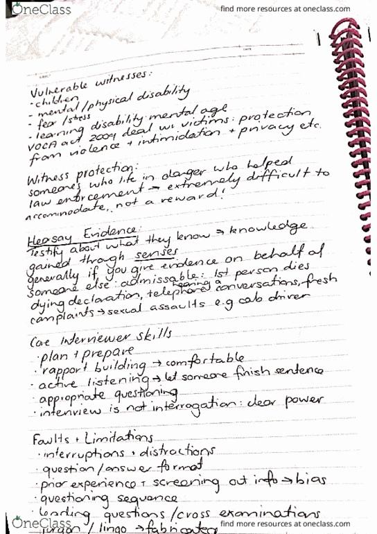 CRIM12-250 Lecture Notes - Lecture 11: Senser, Comino