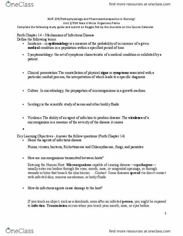 NUR 239 Textbook Notes Summer 2018 Chapter 14 Empiric