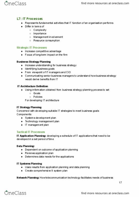 FIT3174 Lecture Notes - Lecture 5: Information Technology Architecture,  Debt Management Plan