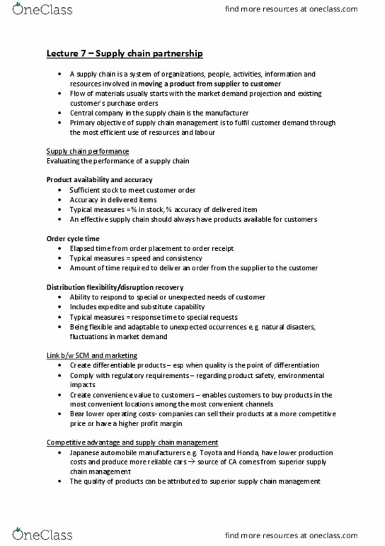 24415 Lecture Notes - Lecture 4: Foxconn, Business Process, Opportunity Cost