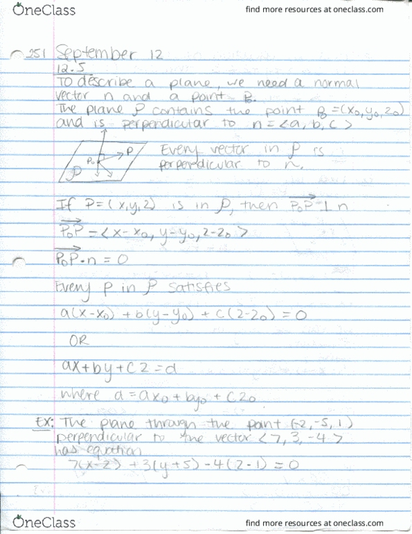 Class Notes for Nishali Mehta - OneClass
