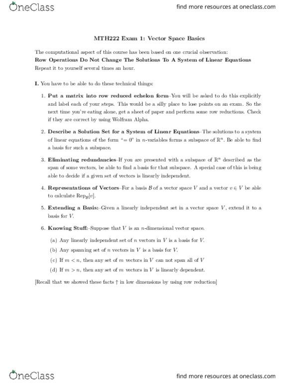 MTH 222 Study Guide - Fall 2018, Final - Wolfram Alpha