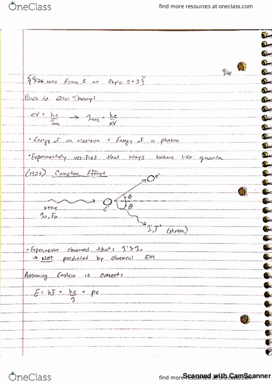 Class Notes for PHYS 505 at University of New Hampshire (UNH