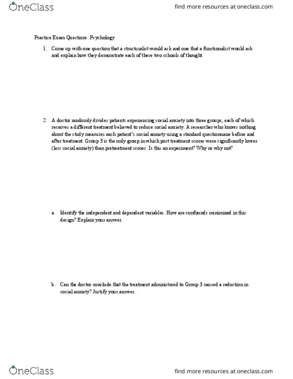 PSYC 100 Study Guide - Final Guide: Equipotential, Sociobiology, Classical  Conditioning