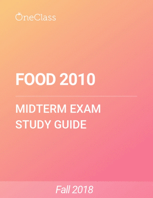 All Educational Materials for FOOD 2010 at University of Guelph (U