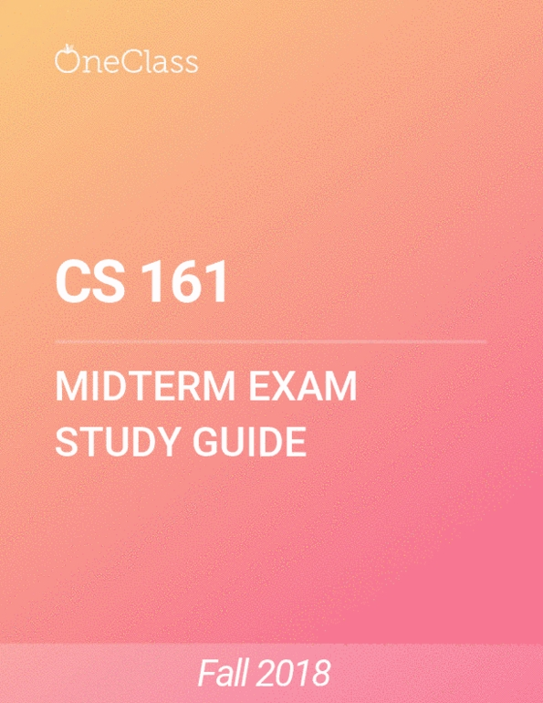 All Educational Materials for CS 161 at Oregon State