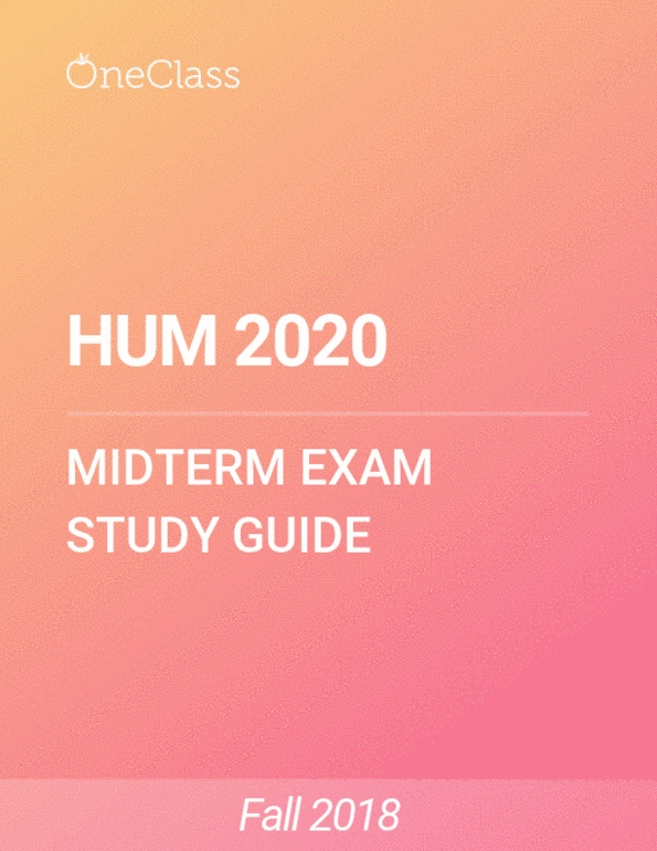Ucf Academic Calendar Fall 2020.All Educational Materials For Hum 2020 At University Of Central