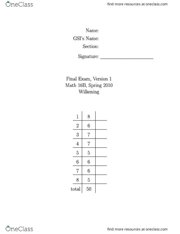 math 16b berkeley homework solutions