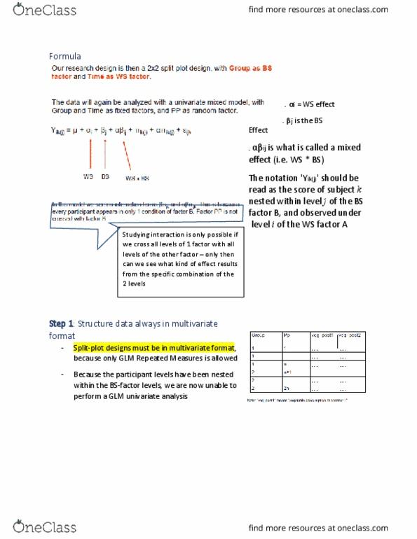 Statistical Sciences 2035 Quiz: Formula