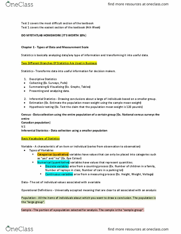 qms 102 homework