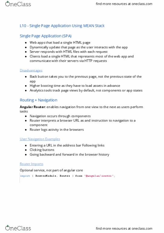 FIT2095 Lecture Notes - Lecture 2: Hypertext Transfer Protocol, Node Js,  Angularjs