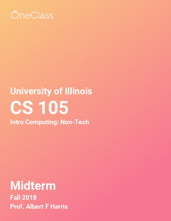 All Educational Materials for CS 105 at University of