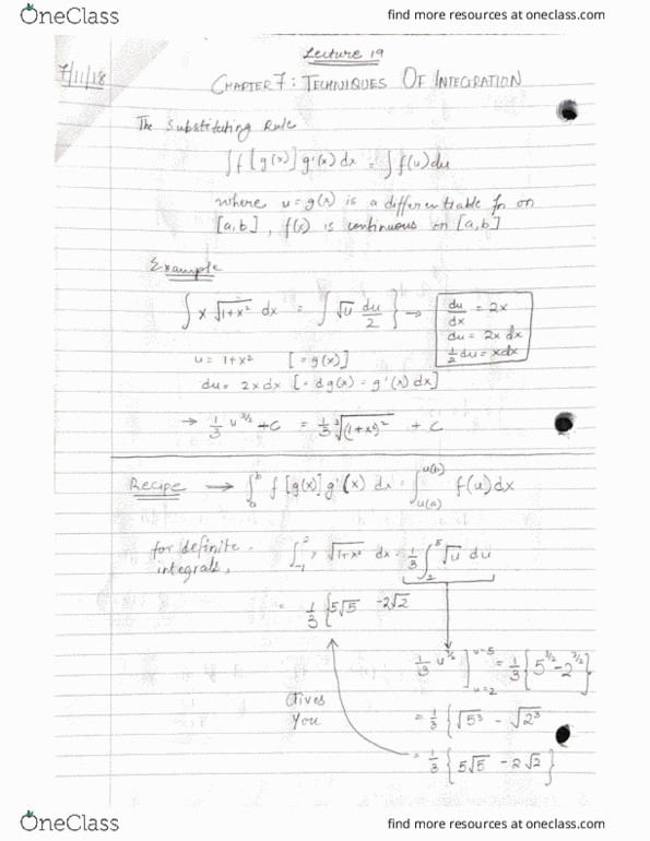 Class Notes for MATH 1004 at Carleton University - OneClass