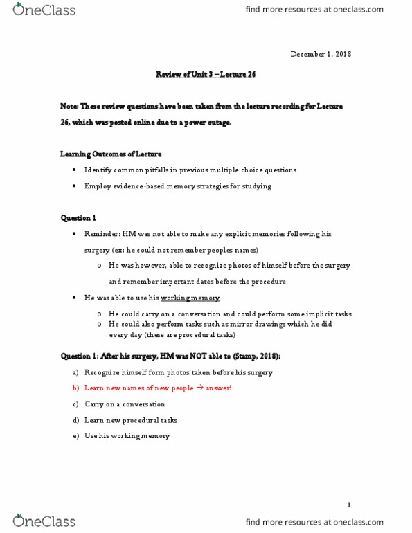 PSYO 2501 Lecture 3: Lecture 2 & 3 Problems