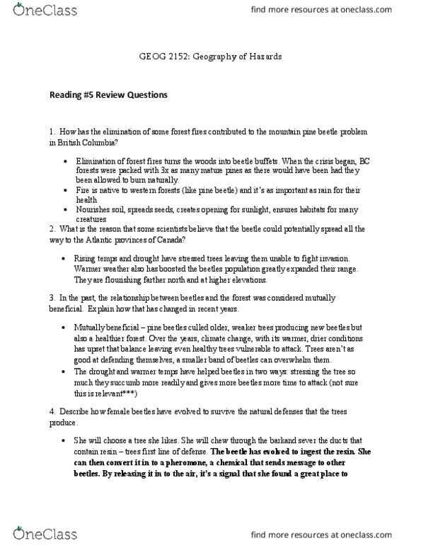 Geography 2152F/G Chapter Notes - Chapter 5: Creatures 2, Silt