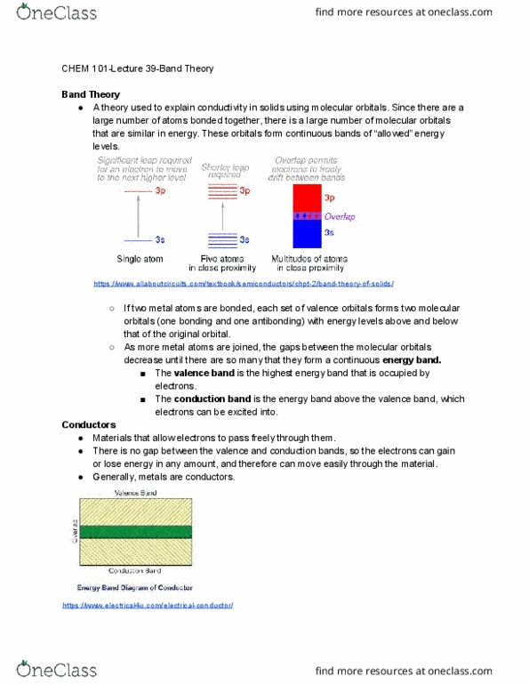 Chem 101 Lecture Notes Fall 2018 39 Antibonding Molecular Orbital