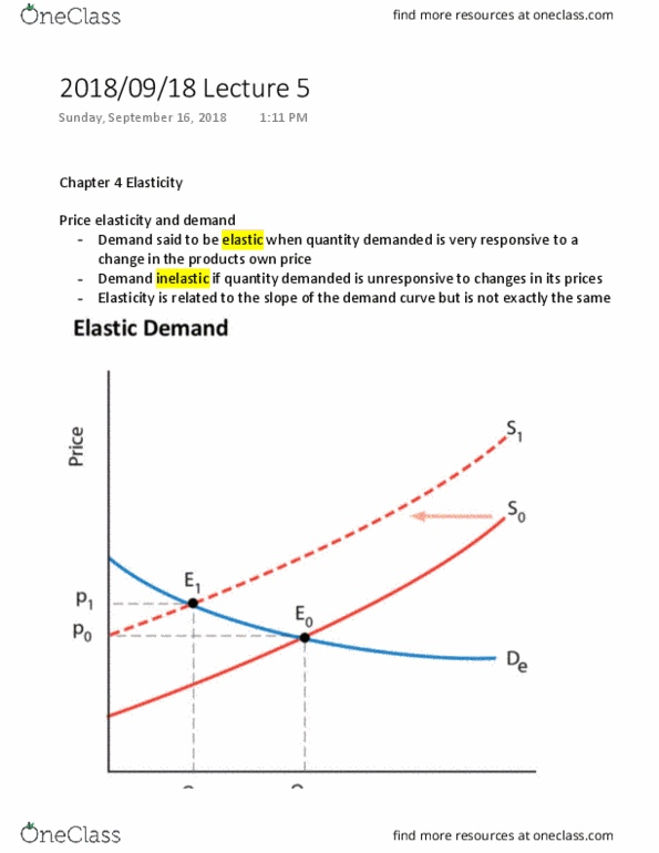 Econ 208 Lecture Notes Fall 2018 Lecture 5 Demand Curve