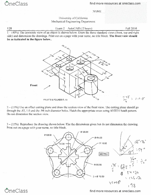 ENGIN 28 Study Guide - Midterm Guide: Autocad