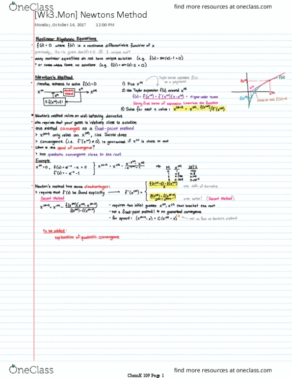 CH ENGR 109 Study Guide - Winter 2019, Comprehensive Midterm Notes - Order  Of The British Empire, Matlab, Positive-Definite Matrix