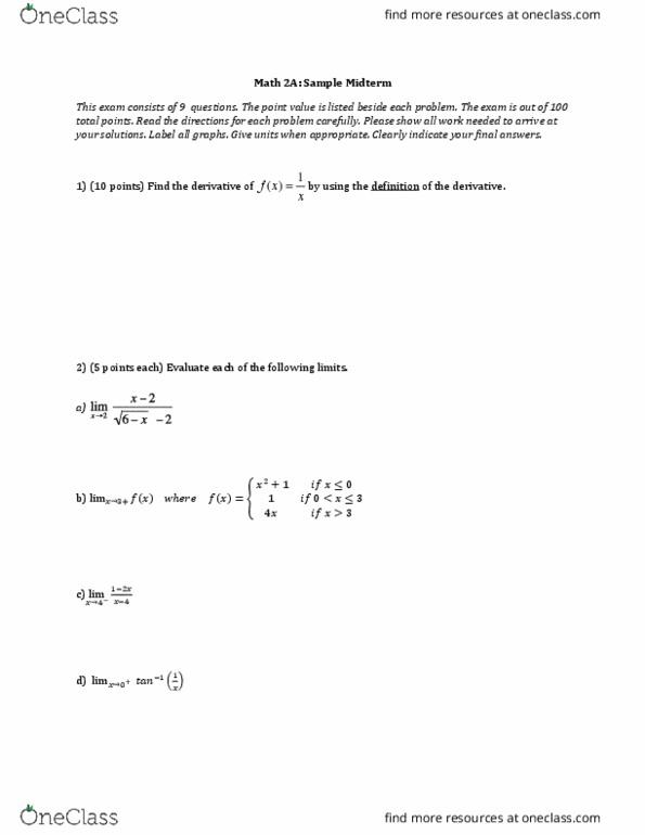 uci math 2b homework