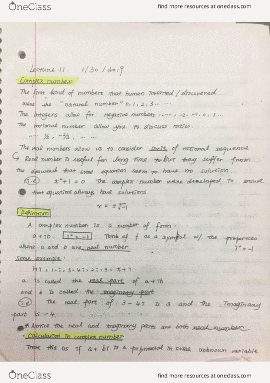 All Educational Materials for MATH 20B at University of