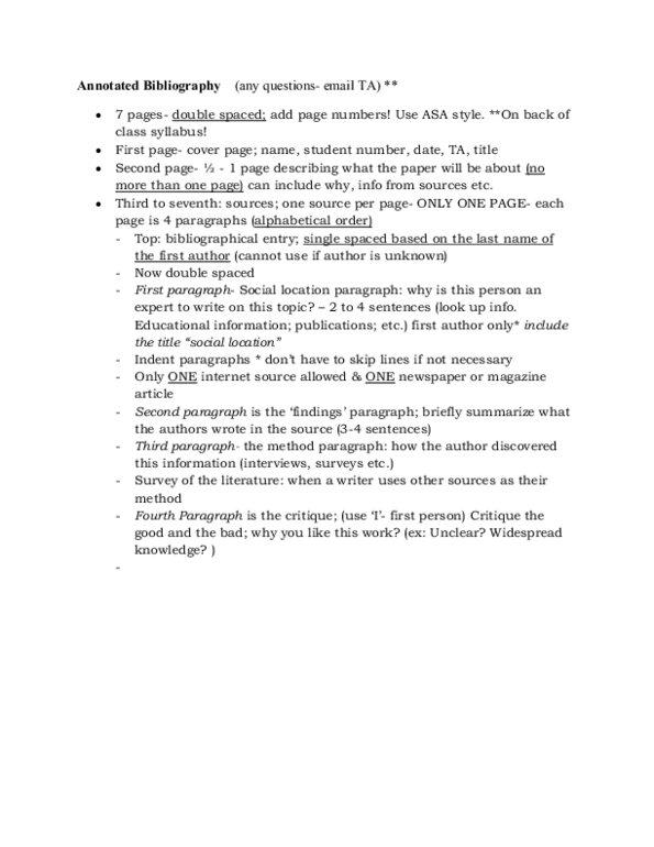 annotated bibliography yorku